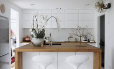 White living area, Pantry, Safari style, Scandinavian, Nordic,  Penthouse