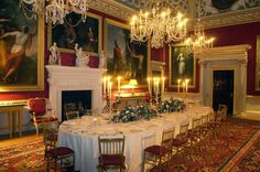 Spencer House | St. James Palace, London, England. State Dining Room. The 9th Duke of Marlborough and his Duchess, Consuelo Vanderbilt, leased this from Earl Spencer as a London residence in 1895. Their oldest son John Spencer-Churchill was born here in 1897.