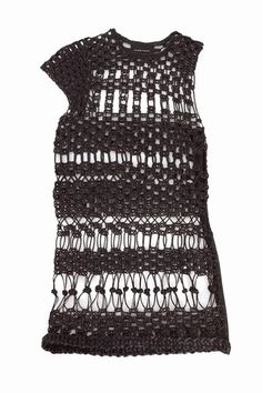 Graeme Armour - leather knitted dress. Click through to see the close-up! $4500