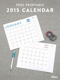 Calendar and Meal Planner Printables - Vertical
