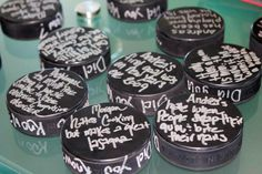 Cool idea for bridal shower, engagement party or wedding for hockey loving couples!