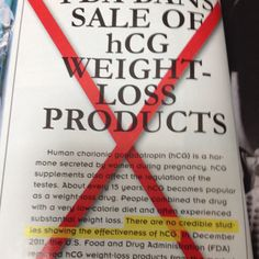 Thank GOD!! The HCG diet is NOT a safe or healthy way to lose weight. Do your research before using supplements!!