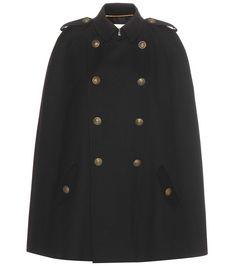 SAINT LAURENT Wool Cape. #saintlaurent #cloth #jackets