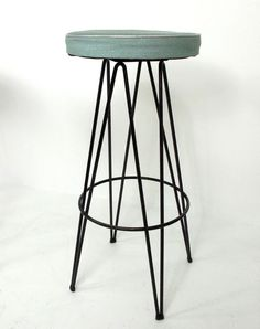 Philadelphia based artist and industrial designer Frederic Weinberg produced and sold a wide variety of functional and decorative items und. Vintage Furniture, Modern Furniture, Furniture Design, Industrial Furniture, Industrial Bar Stools, Paint Brass, Retail Fixtures, Mid Century Furniture, Midcentury Modern