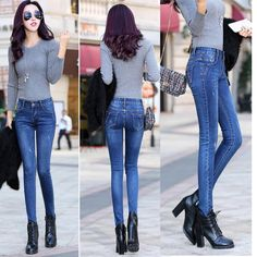 Women's Winter Bottoms Summer Outfits Women, Winter Fashion Outfits, Casual Dresses For Women, Clothes For Women, Mode Jeans, Women's Jeans, Leather Jeans, Sexy Jeans, Cute Prom Dresses