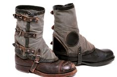 German Gaiters Leather and Canvas - Uncle Sams Army Navy Outfitters