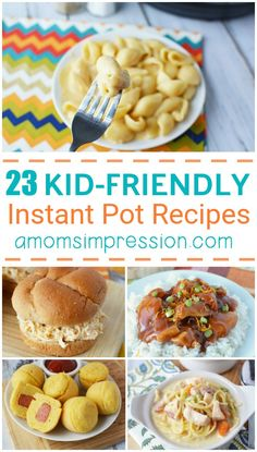 Looking for some Instant Pot recipes for the family? These popular  Instant Pot recipes are kid friendly meals and since they cook up so  quick, they're low maintenance! #instantpot #instapot #kidrecipes  #kidfriendlyrecipes #kidfriendly #pressurecooking #pressurecooker  #mealplanning #familyrecipes