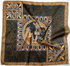 Batik shawl 'Oedipus and the Sphinx.'''