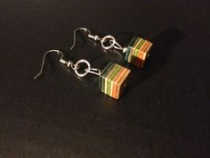 Recycled Skateboard Earrings by R3SK8Products on Etsy, $10.00