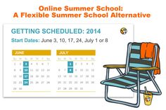 Online Summer School: A Flexible Summer School Alternative http://www.connectionsacademy.com/blog/posts/2014-06-03/Online-Summer-School-A-Flexible-Summer-School-Alternative.aspx