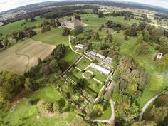 Aerial view of Highclere Castle and Gardens   Adam Hillier Photography