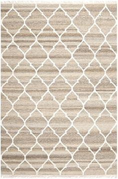 Safavieh Natural Kilim Collection NKM317A Flatweave Light Grey and Ivory Wool Area Rug 4 x 6 ** Be sure to check out this awesome product.