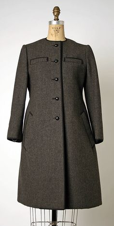 Coat Geoffrey Beene  (American, Haynesville, Louisiana 1927–2004 New York) Date: 1963–69 Culture: American Medium: wool Accession Number: 1995.429.13