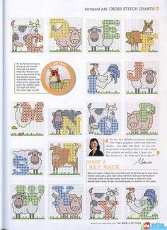 Gingham alphabet pg.4. Gallery.ru / Фото #37 - 2 - KIM-3