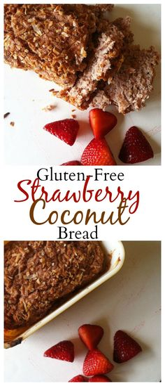 #healthy #glutenfreeStrawberry-Coconut Bread will be a hit with your family! #vegan