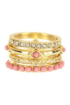 I Want Candy Stack Ring Set by Beyond Rings on @HauteLook - Stacking Rings Are Awesome! <3