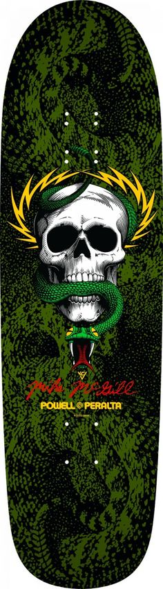 Powell Peralta McGill Skull & Snake 8.97 Fun Shape Skateboard Deck - Free Shipping