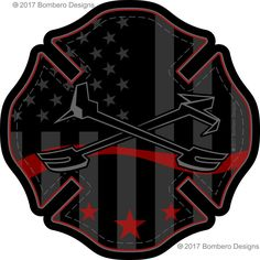 Subdued Maltese - Bombero Designs for firefighters Firefighter Stickers, Firefighter Paramedic, Volunteer Firefighter, Firefighter Tattoos, Drawing Block, Truck Tattoo, American Firefighter, Police Flag, T Shirts