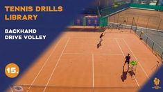 Top tennis drills: Backhand drive volley Tennis Videos, Drills, Improve Yourself, Basketball Court, Sports, Top, Free, Hs Sports, Drill