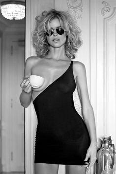 Eva Herzigova by Jannis Tsipoulanis. Eva Herzigová (born 10 March 1973) is a Czech model and actress.