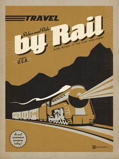 """Travel by Train - This classic rail-travel print encourages everyone to """"Avoid Underwear Bombers Today—Travel by Train and Stick it to the Airlines!"""" If you are nostalgic for the good old days before strip searches and full body scanners, you will love this heart-warming print.<br /> <br />"""