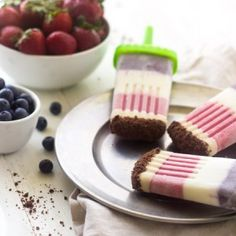 Healthy Freezer Pops with a Chocolate Crunch