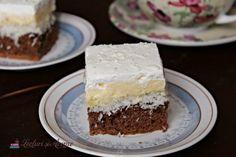 Jemný zákusok s kokosom a vanilkovým krémom - Mňamky-Recepty. Something Sweet, Caramel, Cheesecake, Good Food, Sweets, Recipes, Food Styling, Nails, Fine Dining