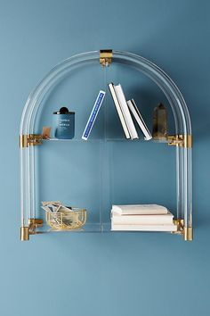 Slide View: 1: Lucite Arch Shelf
