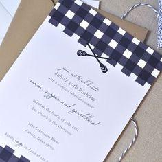 Toast and Laurel oars invitation