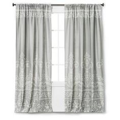 Vintage Gate Curtain Panel - Gray - The Industrial Shop™ : Target