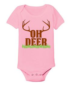 Look at this #zulilyfind! Country Casuals Light Pink 'Oh Deer' Bodysuit - Infant by Country Casuals #zulilyfinds