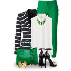 Black and Green by snickersmother on Polyvore featuring Uniqlo, ESCADA, Dolce&Gabbana, Yves Saint Laurent, Lord & Taylor, Prada, Verdura and RGB