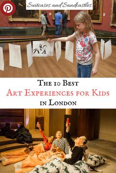The 10 Best Art Experiences for Kids in London, best arty things to do with children in London. Family-friendly guide to museums and art galleries in London, where to find free art workshops and activities in London, family sleepovers in museums, art workshops and courses for children in London.