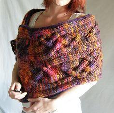 Hand Knitting Pattern. Wrap or Oversized Cowl. by LavishCraft | malabrigo Rasta in Piedras