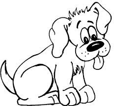 sweet animal dog coloring pages