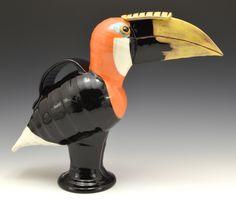 Papua/New Guinea Hornbill jugbird 2015 Gillian McMillan Earthenware, Stoneware, Papua New Guinea, My Images, Table Lamp, Ceramics, Home Decor, Birds, Ceramica