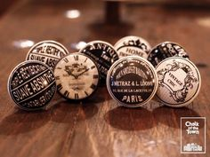 Chalk Of The Town® - Vintage Πόμολα At Home Abs, Vintage Signs, Personalized Items, Clocks, Watches, Clock