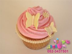 flowers and butterfly cupcake by cakes-mania  קאפקייקס פרפרים מאת שיגעון העוגות - www.cakes-mania.com