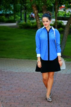 Ann Taylor blouse and skirt.