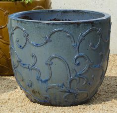 Bezier Planter in French Blue Set of Three!