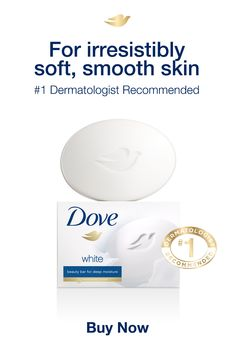 Dove Beauty Bar cleans & cares beautifully for your skin and is the dermatologist recommended bar. Tap the Pin to learn more.