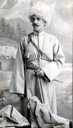 Georgian man in General Caucasian chokha. The Chokha is part of the traditional…