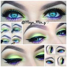 1.Apply mac paint pot painterly allover the lid as a base. 2.Using the #limecrime #aquataenia palette apply the seahorse discourse shade on the lid and tear duct. 3.Apply mac cork in the crease and handwritten on the outer crease.( u can use any warm brown similar shades) 4.Apply pearl-ple on the lower lash line and mac designer purple pencil on the waterline or any purple pencil.