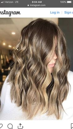 Color Brown Hair With Blonde Highlights, Golden Brown Hair Color, Hair Highlights, Blonde Hair, Hair Heaven, Honey Balayage, Hair Color Balayage, Blonde Color, Hot Hair Colors