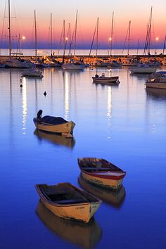 Boats at Colonia del Sacramento by Bernardo Galmarini