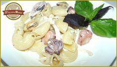 Паста с морепродуктами в сливочном соусе. Готовое блюдо