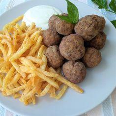 Κεφτεδάκια τηγανιτά | Cookos Fries, Meat, Ethnic Recipes, Food, Essen, Meals, Yemek, Eten
