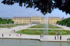 Schönbrunn Palace, an imperial summer residence in Wien; one of the most important architectural, cultural and historical Austria