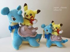 Pokemon-Center-Original-Lapras-amp-Pikachu-Plush-amp-Keychain-mascot-SET