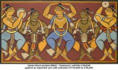 Jamini Roy - Artist Art for Sale - Jamini Roy Indian Artwork, Indian Folk Art, Indian Art Paintings, Indian Artist, Easy Paintings, Madhubani Art, Madhubani Painting, Mural Painting, Fabric Painting